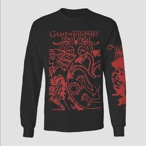Men's Game of thrones long sleeve T-shirt
